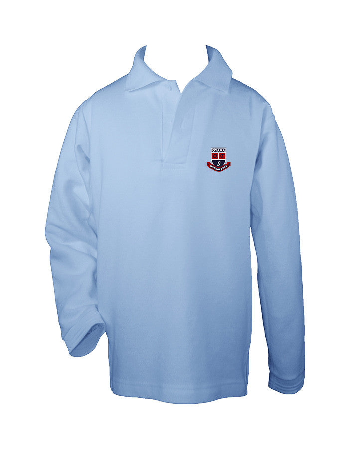 OYAMA GOLF SHIRT, LARGE CREST, UNISEX, LONG SLEEVE, CHILD
