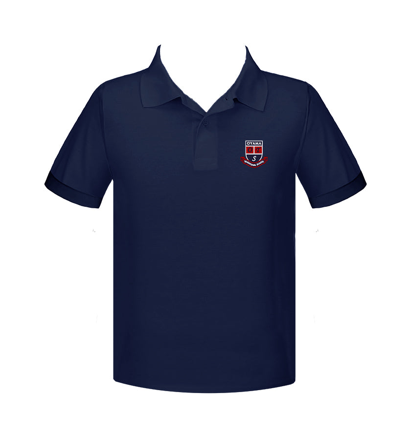 OYAMA NAVY GOLF SHIRT, UNISEX, SHORT SLEEVE, YOUTH