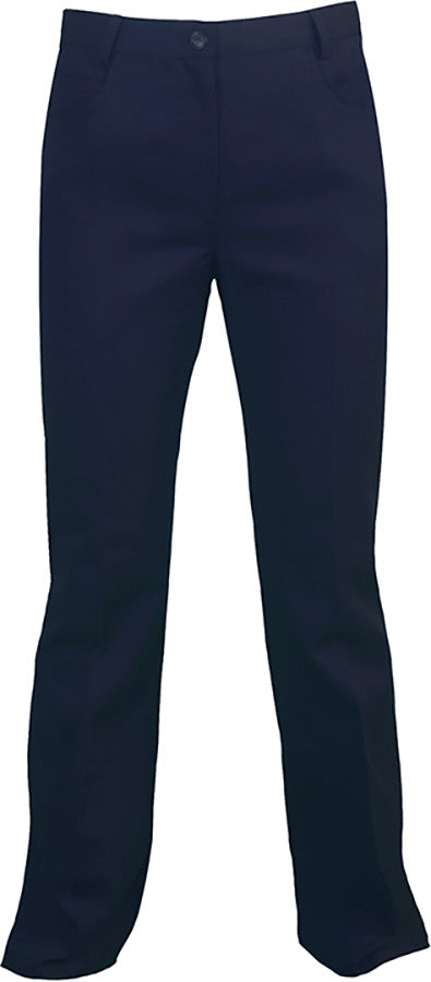 NAVY BOOT CUT PANTS, GIRLS *DISCONTINUED*