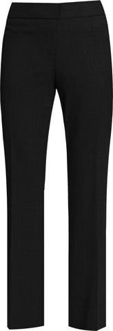 BLACK LADIES STRAIGHT LEG PANTS, SIZE 27 AND UP
