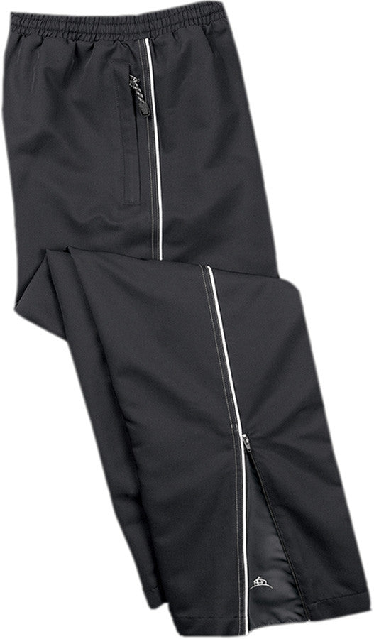 BLACK TRACK PANTS WITH WHITE PIPING, ADULT