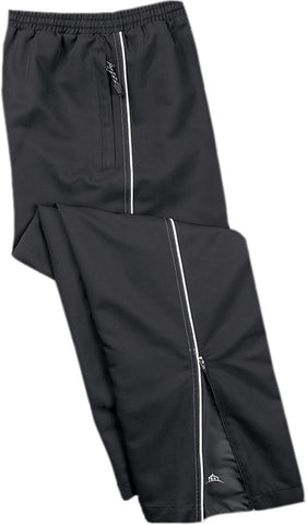 BLACK TRACK PANTS WITH WHITE PIPING, YOUTH