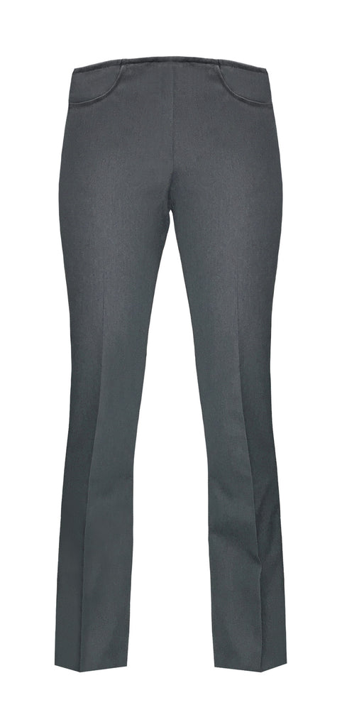 GREY GIRLS STRAIGHT LEG PULL UP PANTS, UP TO SIZE 28