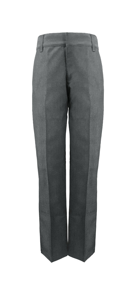GREY ADJUSTABLE WAIST GIRL'S PANTS, POLY/COTTON, UP TO SIZE 32
