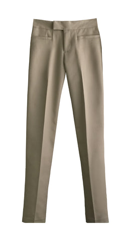KHAKI LADIES 4 POCKETS SLIM FIT LEG PANTS, SIZE 27 AND UP