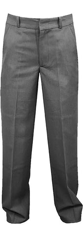 GREY REGULAR BACK PANTS, POLY/VISCOSE, UP TO SIZE 32