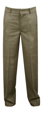 KHAKI REGULAR BACK PANTS, POLY/COTTON, UP TO SIZE 32