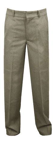 KHAKI REGULAR BACK PANTS, SLIM CUT, POLY/VISCOSE, UP TO SIZE 32