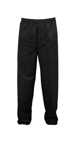 BLACK RUGBY PANTS, POLY/COTTON, YOUTH