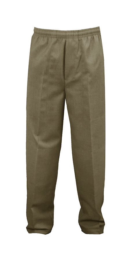 KHAKI RUGBY PANTS, POLY/COTTON, CHILD