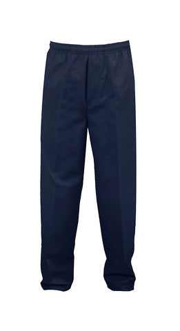 NAVY RUGBY PANTS, POLY/COTTON, ADULT
