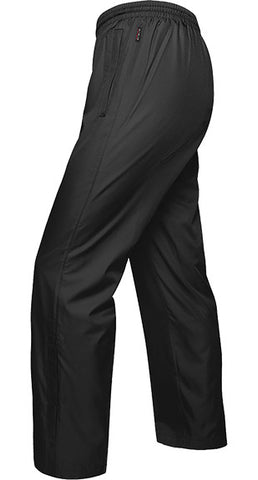 BLACK TRACK PANTS, POLYESTER, ADULT