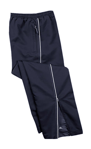 NAVY TRACK PANTS WITH WHITE PIPING, YOUTH
