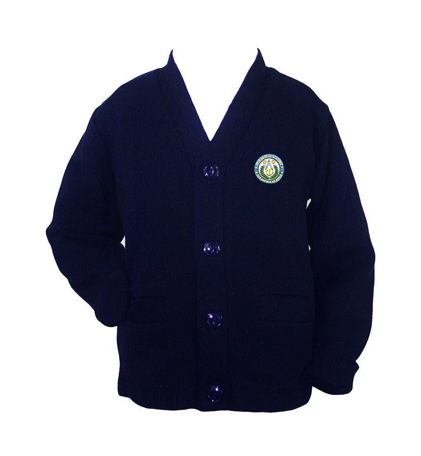 PYTHAGORAS NAVY CARDIGAN, UP TO SIZE 32