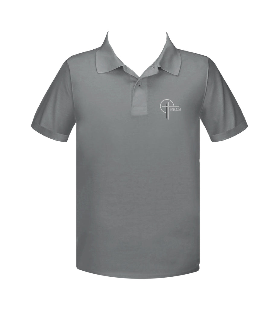 POWELL RIVER CHRISTIAN GREY GOLF SHIRT, UNISEX, ADULT