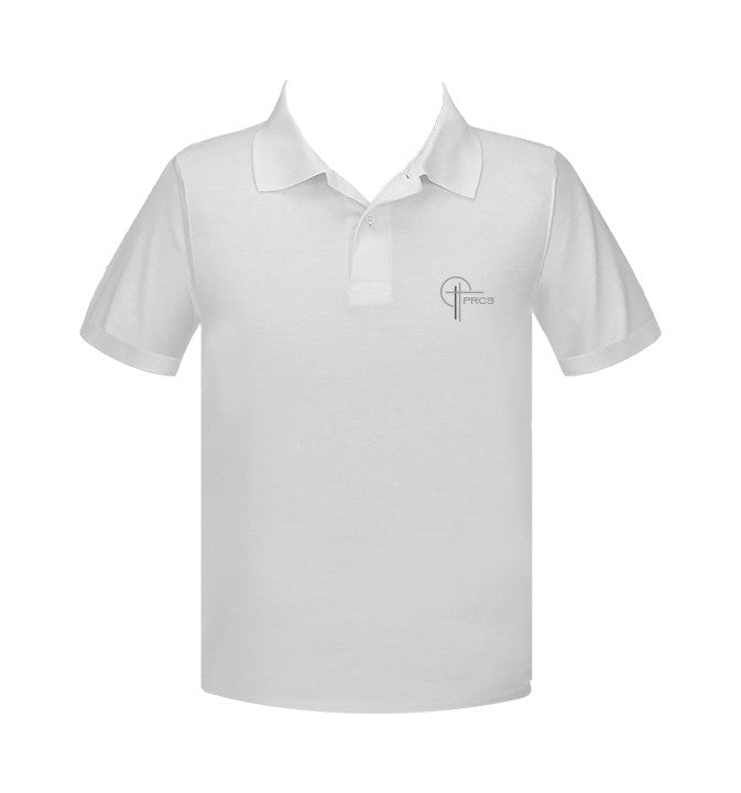 POWELL RIVER CHRISTIAN WHITE GOLF SHIRT, UNISEX, ADULT