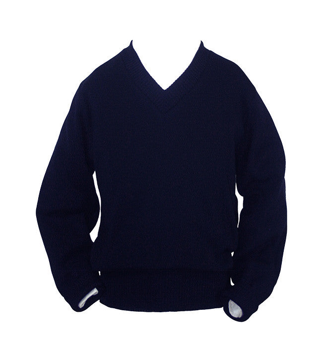 NAVY PULLOVER, UP TO SIZE 32