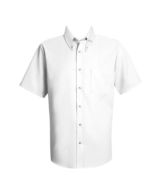QUEEN OF ALL SAINTS DRESS SHIRT, UNISEX, SHORT SLEEVE, YOUTH