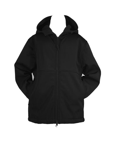 BLACK RAIN COAT WITH HOOD, UNISEX, YOUTH