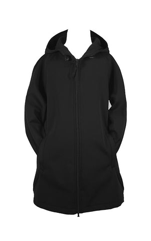 BLACK RAIN COAT WITH HOOD, GIRLS, CHILD