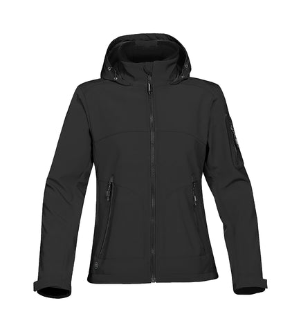 BLACK RAIN COAT WITH HOOD, GIRLS, ADULT