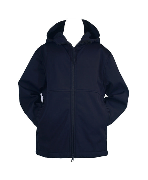 NAVY RAIN COAT WITH HOOD, UNISEX, CHILD