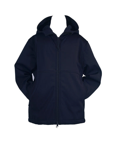 NAVY RAIN COAT WITH HOOD, UNISEX, YOUTH