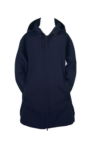 NAVY RAIN COAT WITH HOOD, GIRLS, ADULT
