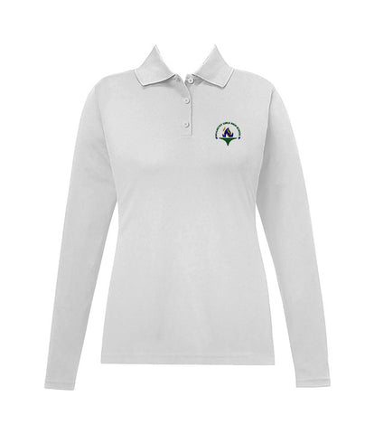 SHALHEVET GOLF SHIRT, GIRLS, LONG SLEEVE, YOUTH
