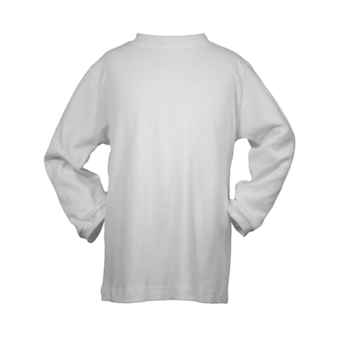 WHITE INTERLOCK SHIRT, LONG SLEEVE