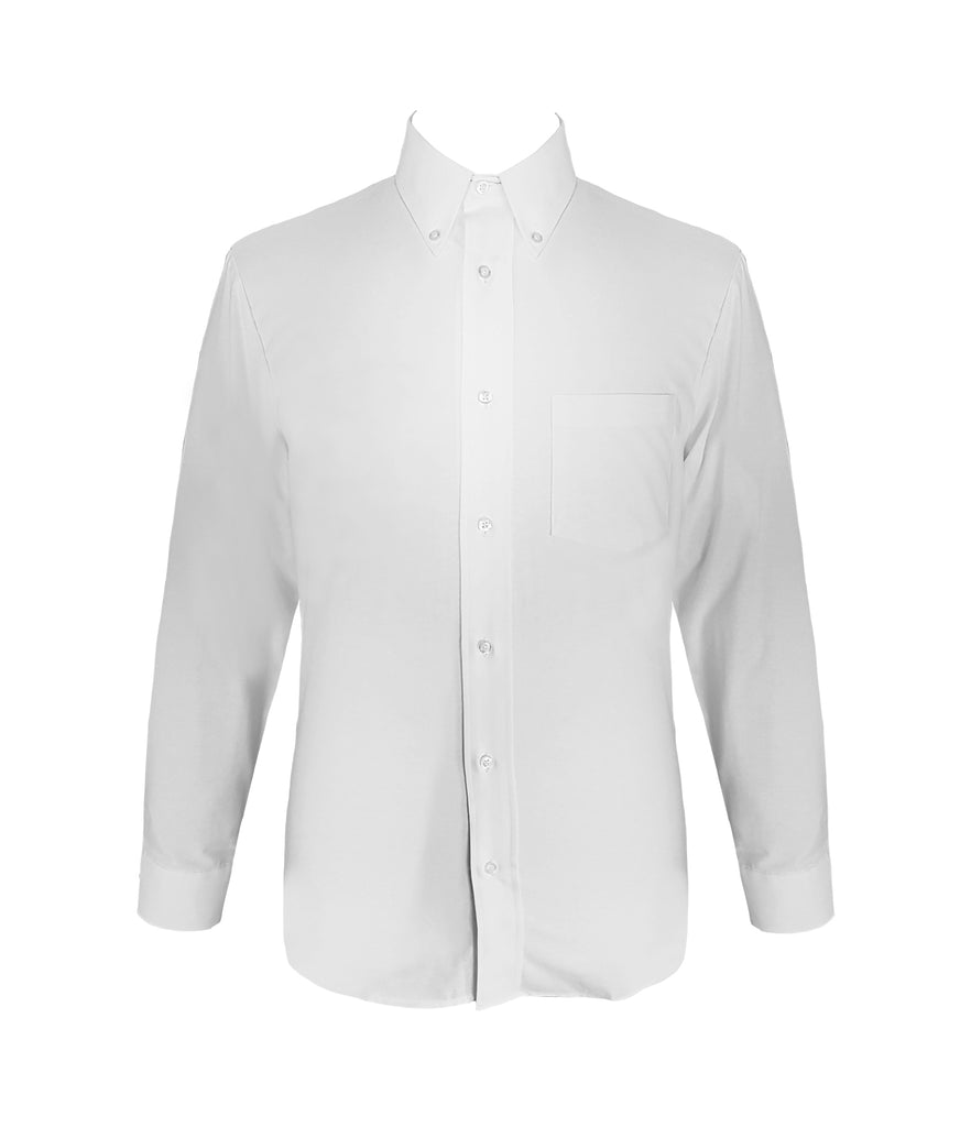 WHITE DRESS SHIRT, UNISEX, LONG SLEEVE, YOUTH