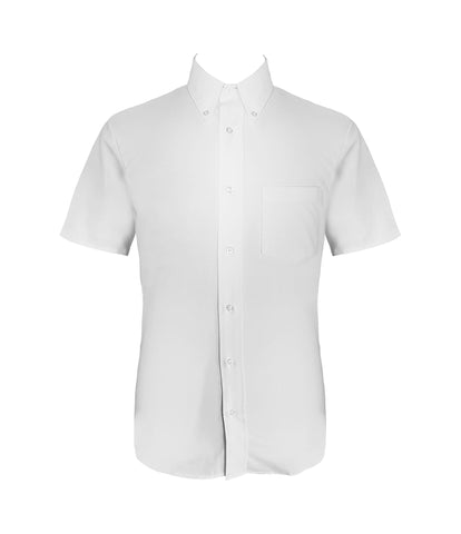 WHITE DRESS SHIRT, UNISEX, SHORT SLEEVE, YOUTH