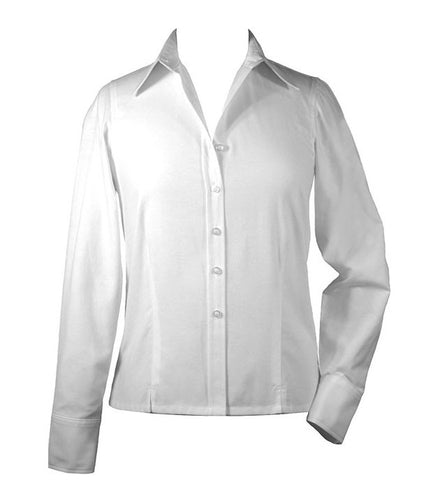 WHITE LADIES BLOUSE, LONG SLEEVE