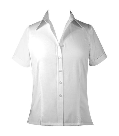 WHITE LADIES BLOUSE, SHORT SLEEVE