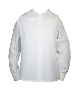 WHITE PETERPAN BLOUSE, LONG SLEEVE