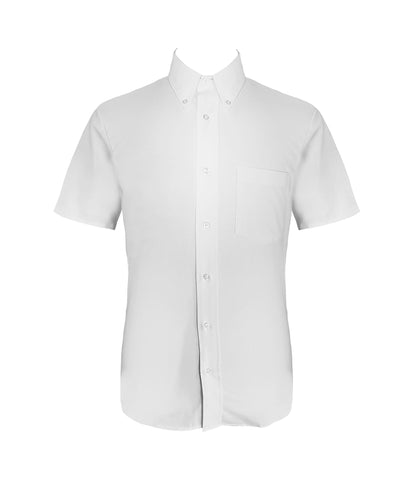WHITE DRESS SHIRT, SHORT SLEEVE, SLIM FIT, MENS