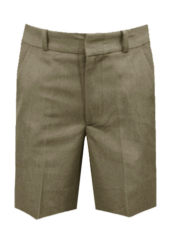 KHAKI REGULAR BACK SHORTS, POLY/COTTON, SIZE 33 AND UP