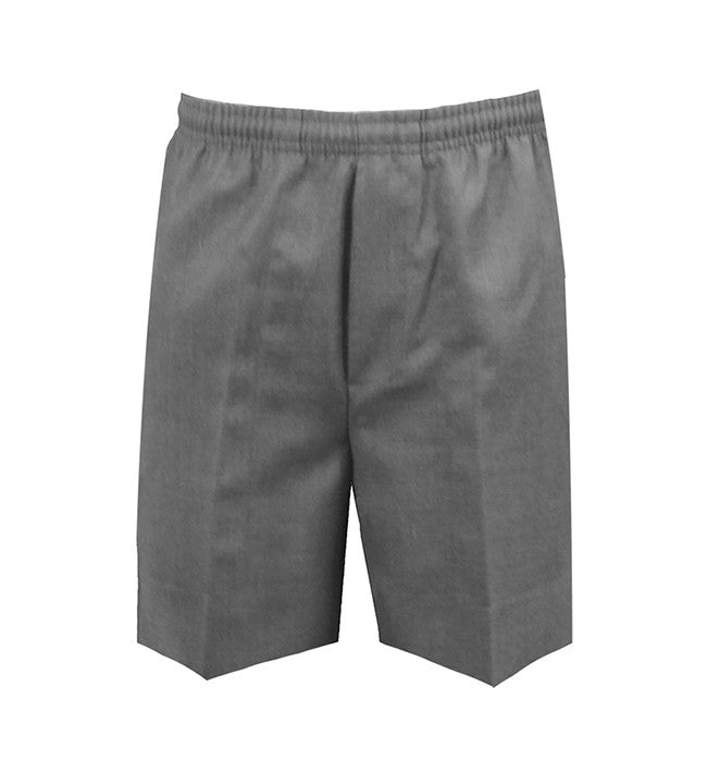 GREY RUGBY SHORTS, POLY/VISCOSE, YOUTH