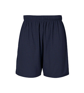 NAVY GYM SHORTS, WICKING, ADULT