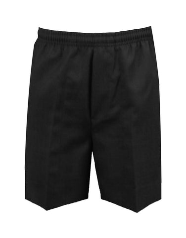 BLACK RUGBY SHORTS, POLY/COTTON, CHILD