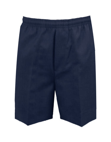 NAVY RUGBY SHORTS, POLY/COTTON, CHILD