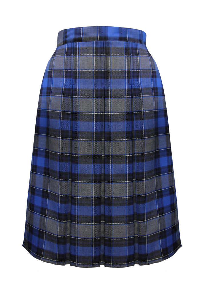3 PLEAT TARTAN SKIRT, ADJUSTABLE WAIST, EXTRA TALL