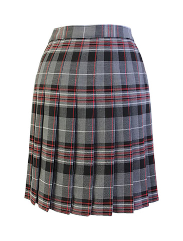 TARTAN SKIRT, BLACK EMPHASIS, REGULAR BACK, SIZE 30 AND UP