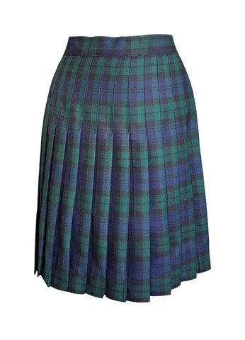 CUSTOM LENGTH TARTAN SKIRT, ADJUSTABLE WAIST, YOUTH