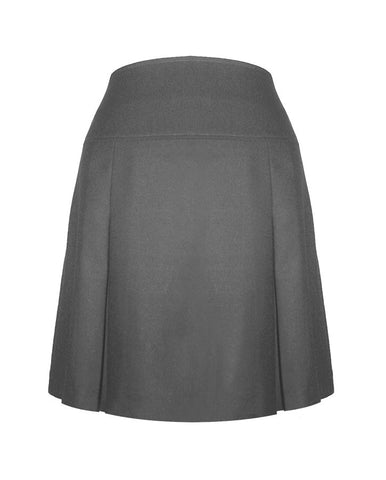 GREY ADJUSTABLE WAIST TENNIS SKORT