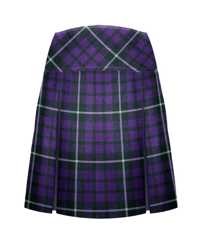 TARTAN TENNIS SKIRT, REGULAR BACK, SIZE 35 AND UP