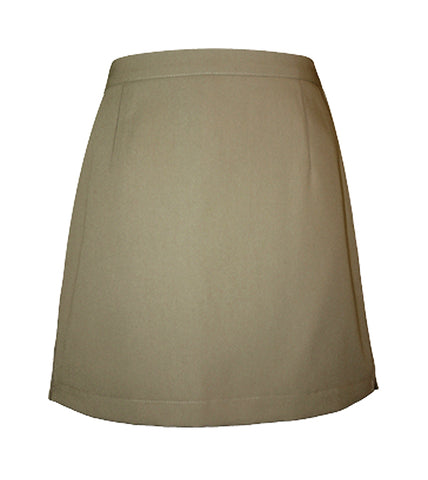 KHAKI ADJUSTABLE WAIST STANDARD SKORT, UP TO SIZE 26