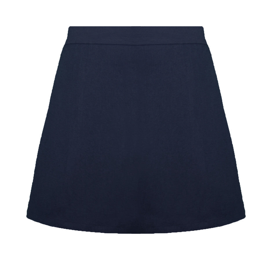 NAVY ELASTIC BACK STANDARD SKORT, GIRLS  <br><strong> FINAL SALE</strong>