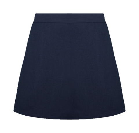 NAVY ADJUSTABLE WAIST STANDARD SKORT, SIZE 28 AND UP