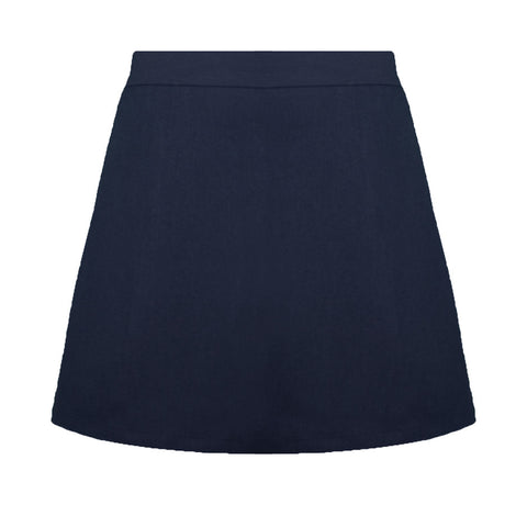 NAVY ELASTIC BACK STANDARD SKORT, SIZE 27 AND UP
